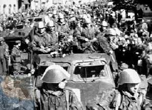NVA-Truppen. Einmarsch in die CSSR 1968