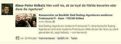 """gefunden am 30. April 2010 - """"Sind amerikanische Ratig-Agenturen moderne Freimaurer!?"""""""