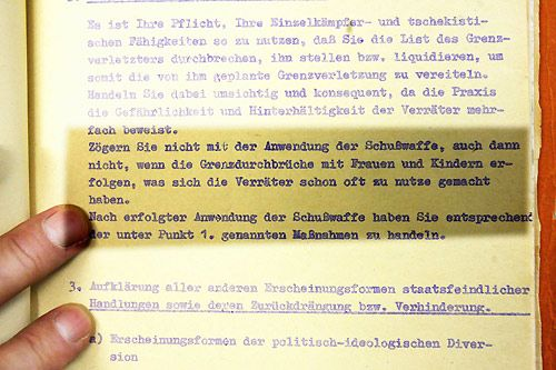 original - DDR Schießbefehl -